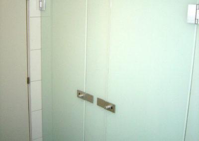 Ganzglasdrehtür WC-Glastüre Float emailliert