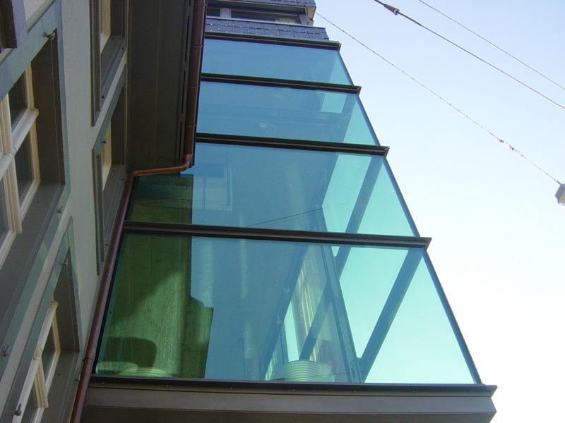 glasfassade isolierglas ber eck demenga glas ag. Black Bedroom Furniture Sets. Home Design Ideas