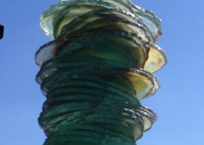 Glassäule Glasskulptur