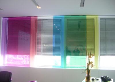 Glasvorhang bunte Gläser farbige Gläser Verbundsicherheitsglas Sicherheitsglas